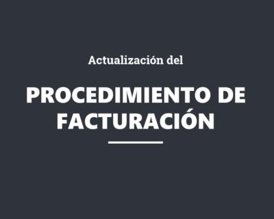 Actualización del procedimiento de facturación