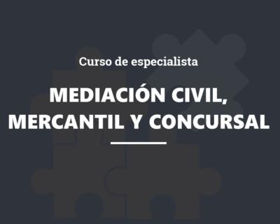 Curso de Especialista en Mediación Civil, Mercantil y Concursal
