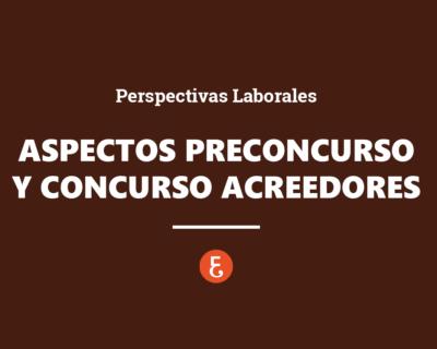 Aspectos del Preconcurso y Concurso de acreedores desde las perspectivas laborales