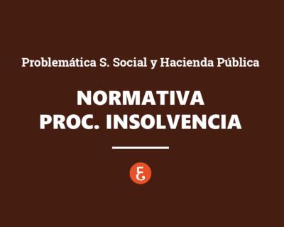 Normativa comunitaria sobre procedimientos de insolvencia