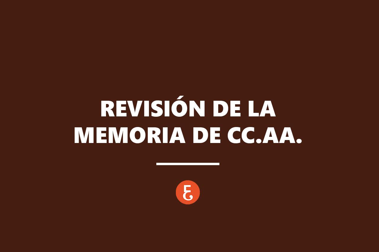 REVISION MEMORIA CCAA