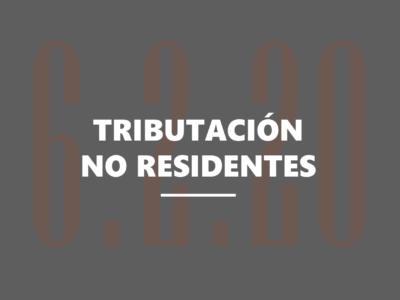 Tributación de no residentes