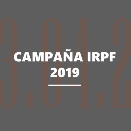 Campaña IRPF 2019