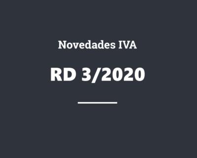 Novedades IVA RD 3/2020