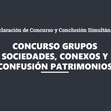 La Declaración de Concurso y su Conclusión Simultánea