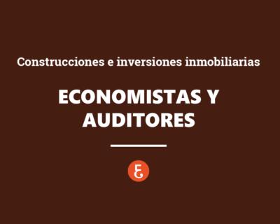 Economistas y auditores ante las Construcciones y las Inversiones inmobiliarias