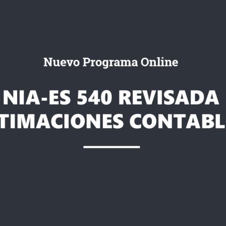 Nueva NIA-ES 540 (revisada) sobre la auditoría de estimaciones contables